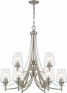Z-Lite 473-9BN Joliet Modern Brushed Nickel Chandelier Lighting