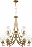 Z-Lite 473-9OBR Joliet Contemporary Olde Brass Chandelier Lamp