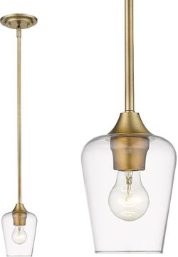 Z-Lite 473MP-OBR Joliet Olde Brass Mini Pendant Light Fixture