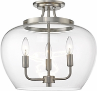 Z-Lite 473SF-BN Joliet Contemporary Brushed Nickel Flush Mount Ceiling Light Fixture