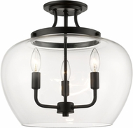 Z-Lite 473SF-MB Joliet Contemporary Matte Black Home Ceiling Lighting