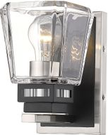 Z-Lite 474-1S-BN-MB Jackson Brushed Nickel and Matte Black Wall Lighting Sconce
