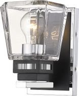 Z-Lite 474-1S-CH-MB Jackson Chrome and Matte Black Wall Sconce Lighting