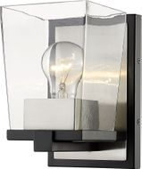 Z-Lite 475-1S-MB-BN Bleeker Street Matte Black and Brushed Nickel Wall Mounted Lamp