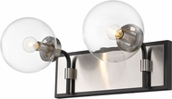 Z-Lite 477-2V-MB-BN Parsons Modern Matte Black / Brushed Nickel 2-Light Bathroom Light Fixture