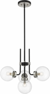 Z-Lite 477-4MB-BN Parsons Contemporary Matte Black / Brushed Nickel Mini Chandelier Light