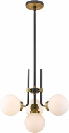 Z-Lite 477-4MB-OBR Parsons Contemporary Matte Black / Olde Brass Mini Ceiling Chandelier