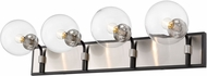 Z-Lite 477-4V-MB-BN Parsons Contemporary Matte Black / Brushed Nickel 4-Light Bathroom Lighting Fixture