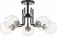 Z-Lite 477-5SF-MB-BN Parsons Contemporary Matte Black / Brushed Nickel Ceiling Light