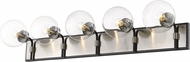 Z-Lite 477-5V-MB-BN Parsons Contemporary Matte Black / Brushed Nickel 5-Light Bath Sconce