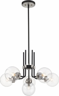 Z-Lite 477-6MB-BN Parsons Contemporary Matte Black / Brushed Nickel Hanging Chandelier