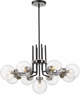Z-Lite 477-9MB-BN Parsons Contemporary Matte Black / Brushed Nickel Chandelier Lighting