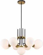 Z-Lite 477-9MB-OBR Parsons Contemporary Matte Black / Olde Brass Lighting Chandelier