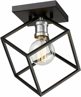 Z-Lite 478F-MB-BN Vertical Contemporary Matte Black / Brushed Nickel Ceiling Light Fixture