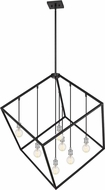 Z-Lite 478P44-MB-BN Vertical Contemporary Matte Black / Brushed Nickel Hanging Light Fixture