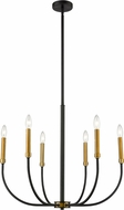 Z-Lite 479-6MB-OBR Haylie Matte Black / Olde Brass Chandelier Light