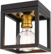 Z-Lite 480F1-BRZ-OBR Kube Contemporary Bronze / Olde Brass Flush Lighting