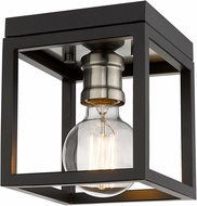 Z-Lite 480F1-MB-BN Kube Modern Matte Black / Brushed Nickel Flush Mount Lighting