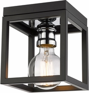 Z-Lite 480F1-MB-CH Kube Contemporary Matte Black / Chrome Overhead Lighting