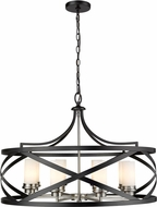 Z-Lite 481P30-MB-BN Malcalester Contemporary Matte Black / Brushed Nickel 30  Pendant Lighting