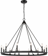 Z-Lite 482R-12MB Barclay Matte Black Chandelier Light