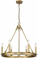 Z-Lite 482R-6OBR Barclay Olde Brass Chandelier Lamp
