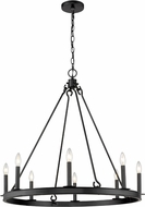 Z-Lite 482R-8MB Barclay Matte Black Chandelier Light