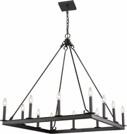Z-Lite 482S-12MB Barclay Matte Black Hanging Chandelier