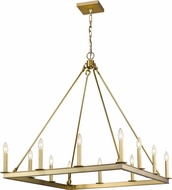 Z-Lite 482S-12OBR Barclay Olde Brass Chandelier Light