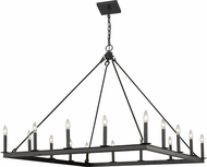 Z-Lite 482S-16MB Barclay Matte Black Chandelier Lighting