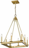 Z-Lite 482S-8-20OBR Barclay Olde Brass Mini Chandelier Light