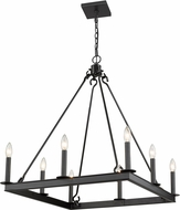 Z-Lite 482S-8-26MB Barclay Matte Black Ceiling Chandelier