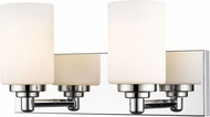 Z-Lite 485-2V-CH Soledad Chrome 2-Light Bathroom Vanity Light