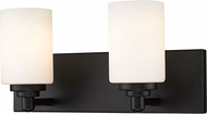 Z-Lite 485-2V-MB Soledad Matte Black 2-Light Bathroom Sconce