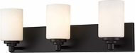 Z-Lite 485-3V-MB Soledad Matte Black 3-Light Bathroom Sconce Lighting