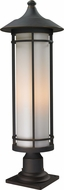Z-Lite 530PHB-533PM-ORB Woodland Oil Rubbed Bronze 10 Wide Exterior Pier Mount