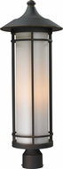 Z-Lite 530PHB-ORB Woodland Oil Rubbed Bronze 28 Tall Outdoor Lamp Post Light