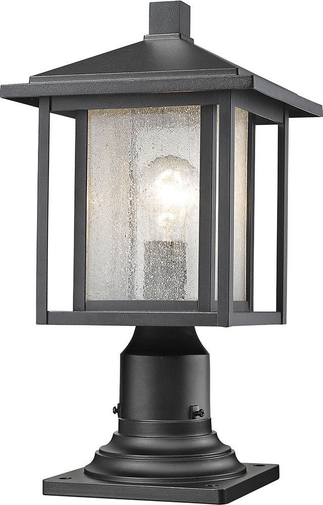 Z Lite 554phm 533pm Bk Aspen Black Exterior Lamp Post Light Fixture Loading Zoom
