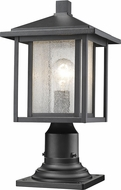 Z-Lite 554PHM-533PM-BK Aspen Black Exterior Lamp Post Light Fixture