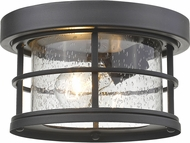 Z-Lite 555F-BK Exterior Additions Black Outdoor Ceiling Light Fixture