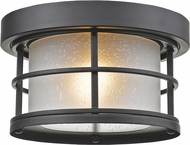 Z-Lite 556F-BK Exterior Additions Black Outdoor Ceiling Light Fixture