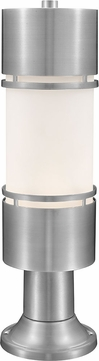 Z-Lite 560PHB-553PM-BA-LED Luminata Contemporary Brushed Aluminum LED Exterior Post Mount w/ Pier Mount