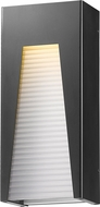 Z-Lite 561B-BK-SL-FRB-LED Millenial Contemporary Black Silver LED Exterior Wall Lamp