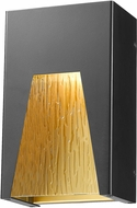 Z-Lite 561S-BK-GD-CSL-LED Millenial Modern Black Gold LED Outdoor Wall Sconce Light