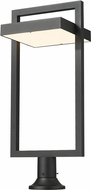 Z-Lite 566PHXLR-553PM-BK-LED Luttrel Contemporary Black LED Exterior Pier Mount