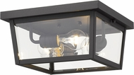 Z-Lite 568F-BK Beacon Black Outdoor Flush Mount Lighting