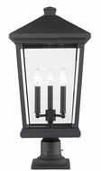 Z-Lite 568PHXLR-533PM-BK Beacon Black Outdoor Pier Mount