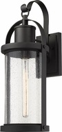 Z-Lite 569B-BK Roundhouse Contemporary Black Outdoor Wall Sconce Lighting