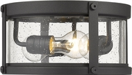 Z-Lite 569F-BK Roundhouse Contemporary Black Outdoor Flush Mount Light Fixture
