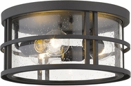 Z-Lite 570F-BK Jordan Modern Black Exterior Flush Mount Lighting Fixture